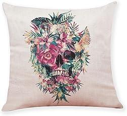squarex Home Decor Kissenbezug Skull Style Überwurf Kissenbezüge Kissenbezüge für Auto Sofa