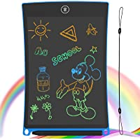 GUYUCOM LCD Writing Tablet, 8.5 inch Digital Drawing Board Portable Erasable Writing Tablet for kids adults with Lock Function for Painting Drawing and Memo Lists (Blue)