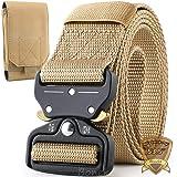 Boneke Cintura Militare, Cintura Regolabile Tattica con Sicurezza Fibbia a sgancio rapido in metallo, large size in Nylon Cin