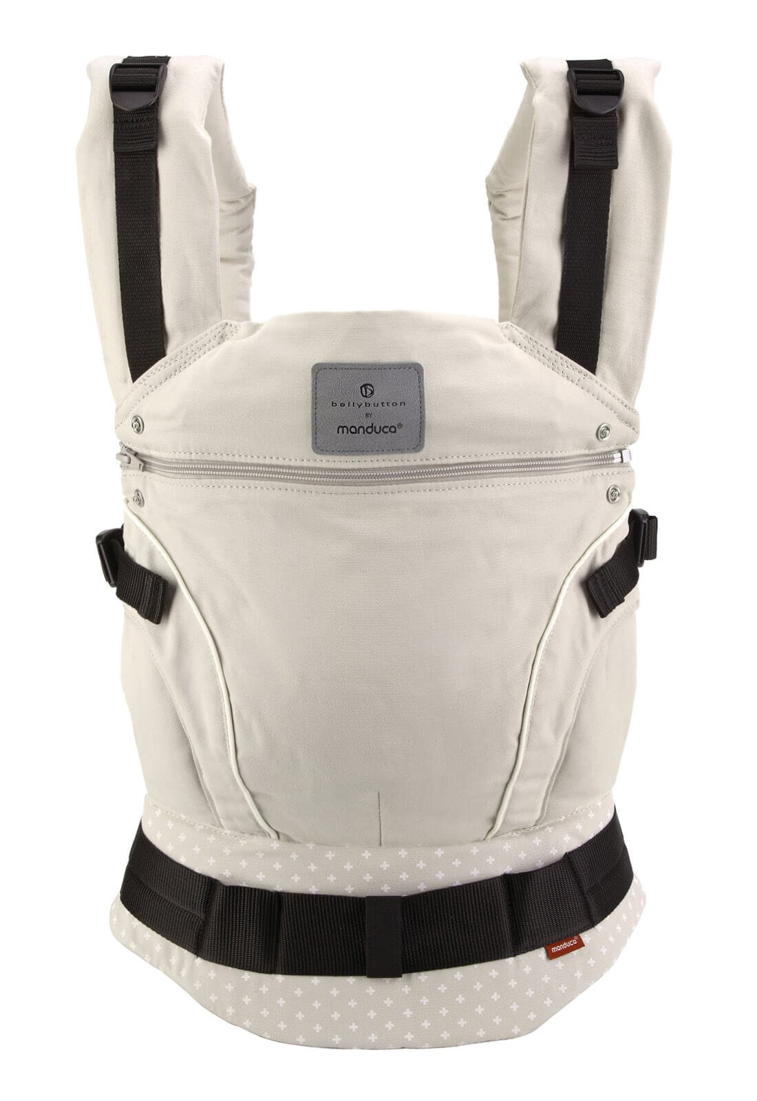manduca First Baby Carrier > Bellybutton by manduca Edition, WildCrosses Sand < Child Carrier with Ergonomic Waist Belt & Patented Back Extension, Newborn to Toddler Manduca The anatomical shape of your belt makes all the weight to be on the hip, while the back, neck or shoulders of the person who takes padezcan The Manduca 222 Backpack allows you to position the child in front, behind or on the hip, always looking at the person who takes you The backpack also features a concealed hood and shades that can be to child's head when sleeping or to protect it from the sun and rain 1