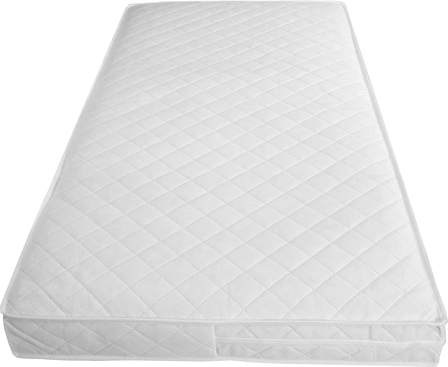 mother nurture luxury pocket spring cot mattress british made with luxury quilted cover and spare amazoncouk baby - Spring Mattress