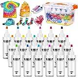 18 Colores Tie Dye Kit 120ML Vibrantes Tintes Para Tejidos Conjunto Tinte Tie de un Solo Paso Camisa Tela Tinte Duministros N