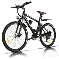 "VIVI Elektrofahrrad Herren 26"" Mountainbike mit 350W Motor,Abnehmbare 36V/8Ah Batterie /21-Gang-Getriebe…"