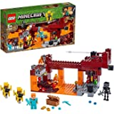 LEGO 21154 Minecraft De Blaze brug Bouwset met Alex minifiguur, Wither Skeletonfiguur, Lava en Blaze Mob onderdelen, The Neth