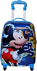 GOCART ABS Blue Micky Pattern Boy's and Girl's Trolley Bag with Cabin