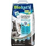 Biokat's Diamond Care MultiCat Fresh, con fragancia - Arena fina con carbón activo para hogares en los que viven varios gatos