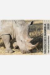 Magisches Namibia - Tiere und LandschaftenCH-Version (Tischkalender 2020 DIN A5 quer): Weite Savannen mit einer reichen Tierwelt und einzigartige ... (Monatskalender, 14 Seiten ) (CALVENDO Natur) Kalender