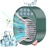 Condizionatore Portatile Personale, 4 IN 1 Personale Cooler Ventilatore Mini Raffreddatore D'aria, 3 velocità Regolabili 7 Co
