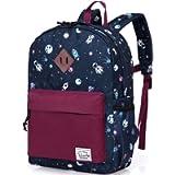 VASCHY Kids Backpack Kids Backpack Boys Kids School Book Bag Small Backpack for Children Backpack with Chest Strap