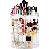 Boxalls Organizador de Maquillaje de Giratorio, Transparentes | Organizador de Cosméticos con Rotación 360 Grados, Ajustable,