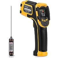 Thermomètre Infrarouge Pistolet de Température Laser Numérique Sans Contact -58°F~1112°F (-50°C~600°C) Emissivité…