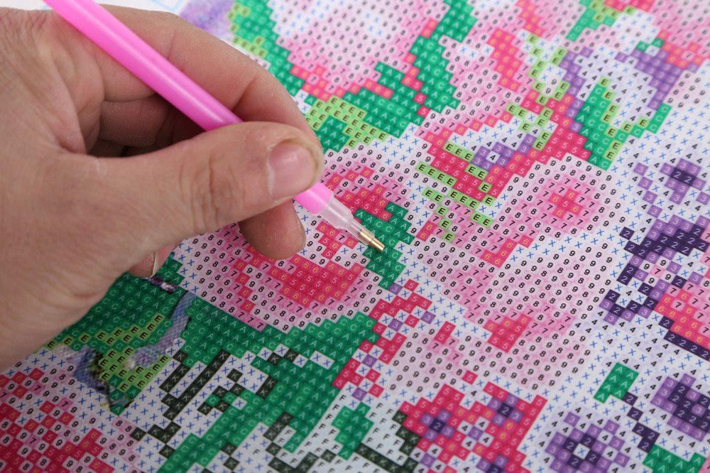 5D DIY Diamond Painting Animal Rhinestone Embroidery Cross Stitch Art Craft for Home Wall Decoration 2#