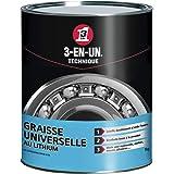 3-EN-UN Technique • Graisse Universelle au Lithium • Pot • Forte adhérence • Résite à l'eau et à la chaleur • Utilisation ent