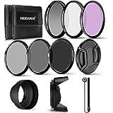 Neewer 62 mm filter professionellt UV-, CPL, FLD-objektivfilter och ND-gråfilter (ND2, ND4, ND8). Tillbehörssats för Pentax (