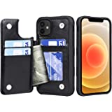 Migeec Funda para iPhone 12 / iPhone 12 Pro - Funda Tipo Cartera con Bolsillos para Tarjetero [a Prueba de Golpes] Funda con