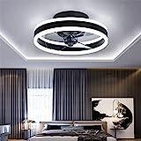 TATANE Reversible Plafonnier Ventilateur Silencieux Telecommande 6 Vitesses Chambre Ventilateur de Plafond avec Lumiere Moder