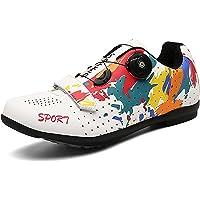 Churlin Hommes Femmes Chaussures de Cyclisme Chaussures De Vélo De Route De Vélo De Montagne Respirantes Légères…