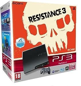 PlayStation 3 - Konsole Slim Black 320 GB + Resistance 3  [Edizione: Germania]