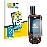 BROTECT Protector Pantalla Compatible con Garmin GPSMAP 64s Protector Transparente (2 Unidades) Anti-Huellas