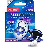 Alpine SleepDeep Weiches Gel Ohrstöpsel zum Schlafen - Revolutionäre 3D ovale Form und geräuschunterdrückendes Gel für…