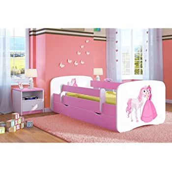 Pink Toddler Girl Bed Kids Bed Princess Horse Childrenu0027s Single Bed With  Mattress And Storage Included