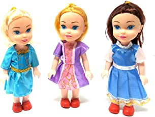 Zamp E Commerce Small Baby Twin Girl Sisters Long Hair Doll for Kids, Toddlers, Boys, Girls. Random Clothing Colours(9 Inch) (3 Sister Doll)