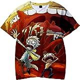 OLIPHEE Camisetas Impresas en 3D Abuelo de Dibujos Animados Funny Anime Transpirable Tops para Niños