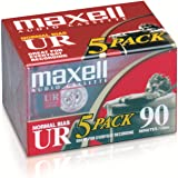Maxell 108562 Brick PacksMaxell 108562 Low Noise Surface 90 min Recording Time Audio Cassettes, Great for Everyday Recording