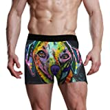 Slip da Uomo Bulge Pouch Stretch Boxer Tronco Arcobaleno Animale Cane Colorato Art