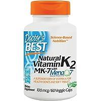 Doctor's Best - MK-7 Vitamine K2 Avec Menaq7 100 mcg. - 60 Végétalien Bouchons