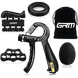 GRM Gripstyrka tränare underarmsförstärkare, justerbart motstånd 5-60 kg handgrepp tränare träning för rehabilitering idrotta