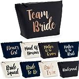 Team Bride Make Up Wash Bag Case Bride To Be Chief Bridesmaid Squad Crew Hen Party Night