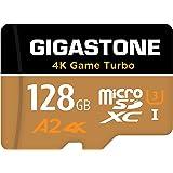 Gigastone 128GB micro SD geheugenkaart, 4K Game Turbo, SDXC UHS-I A2 U3, 100/50 MB/s lees- en schrijfsnelheid, UHD 4K video o