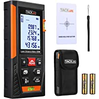 Télémètre Laser 50m, Tacklife Metre Laser, Ecart 1.5mm, Calcule Distance Surface Volume, Fonction Pythagore, Stocker 30…