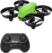 Potensic Mini Drone, RC Drones Quadcopter para Niños y Principiantes con Modo sin Cabeza, Altitud Hold, Alarma de Batería y 3 Modos de Velocidad, 4 Canales 6-Ejes, Regalo y Juguete (Verde)