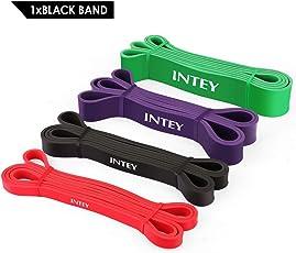 INTEY Fitnessbänder Premium Resistance Band Gymnastikband aus Naturlatex Widerstandsbänder als Widerstand und Unterstützung für Klimmzughilfe mit Übungsanleitung