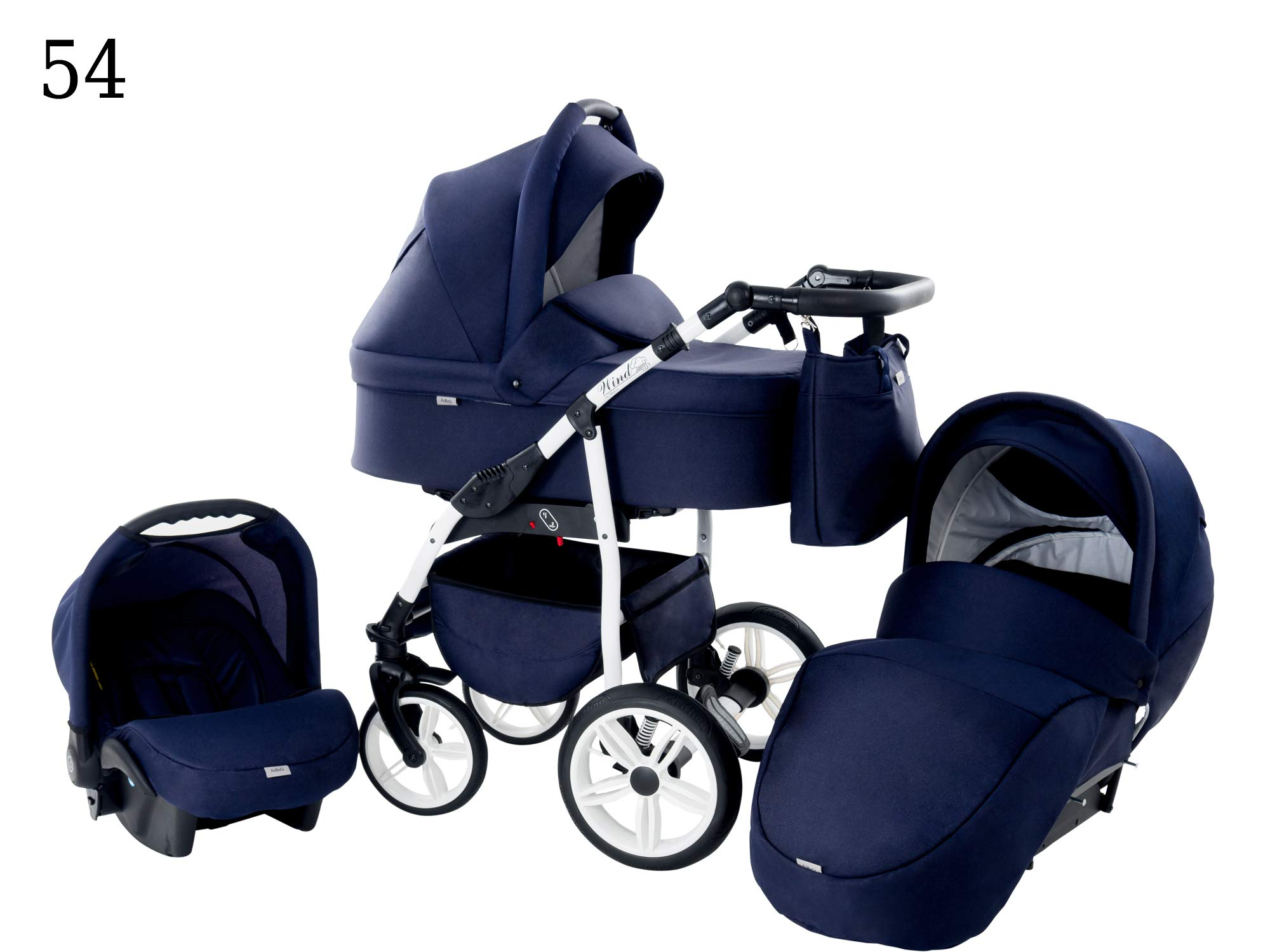 Baby Pram Zeo Wind 3in1 Set - All You Need! carrycot Gondola Buggy Sport Part Pushchair car seat (54) Zeo 3 in 1 combination stroller complete set, with reversible seat units to the buggy, child car seat or baby carriage The baby carriage is suitable for babies from 0 months to 3 years (0-15 kg) Has 360 ° swiveling wheels, four-fold suspension, four-stage backrest, five-position adjustable footrest and a five-point safety belt 2