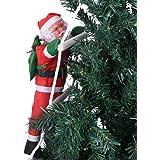 50cm Kerstman Klimtouwladder Outdoor Kersttuindecoratie, Kerstklimmende Kerstman, Xmas Beeldje Ornament, Indoor Buitendecorat