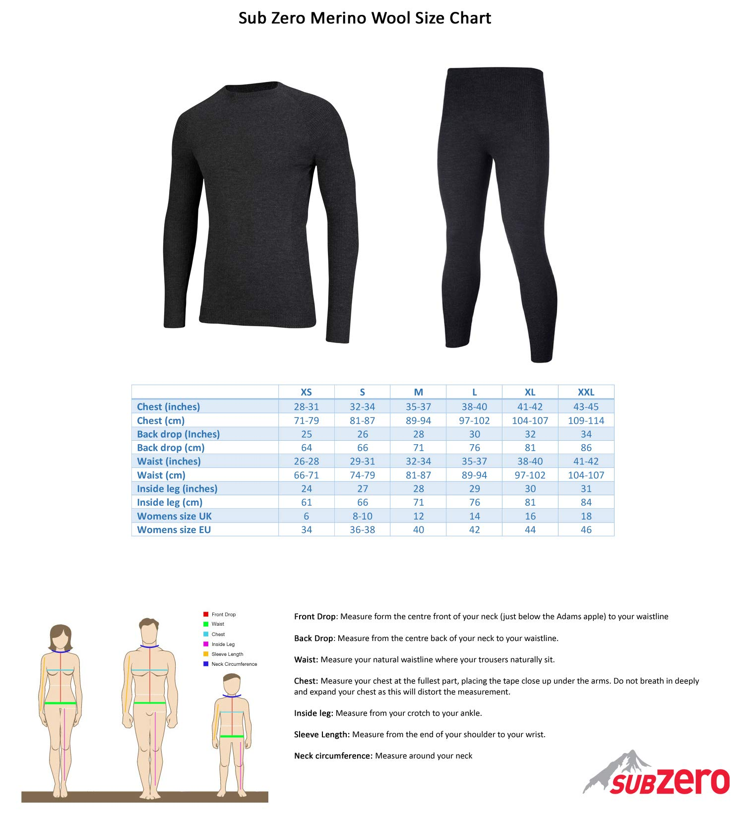 71TWc3K2pWL - SUB ZERO Mens Merino Wool Thermal Insulated Totally Seamless Mid Layer Long Sleeve Round Neck Top