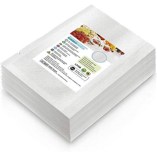Buste sottovuoto per alimenti, 20x30cm, 100 pezzi, appositamente progettate per la cottura sottovuoto e la conservazione degli alimenti, prive di BPA, robuste e antistrappo, riutilizzabili