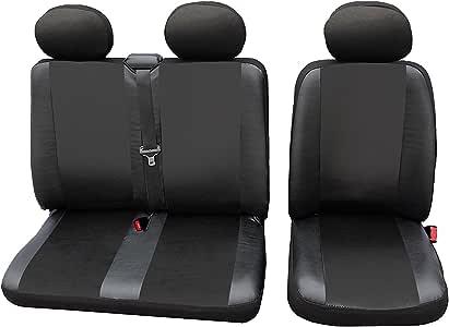 Sitzbezüge Schonbezüge SET QL Mercedes Sprinter Kunstleder schwarz