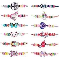 ZITFRI 12 PCS Bracelet Amitié Fille Bijoux - Petits Cadeaux Anniversaire Jouet Fille Bijoux Bracelet