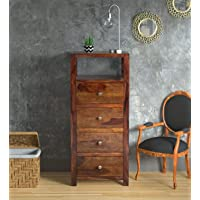Woodstage Solid Sheesham Wood Multipurpose Chest of Drawers for Home Office Living Room Wooden Storage Floor Standing…