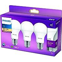 Philips LED Lampe ersetzt 100W, E27, A60, 3-er Pack, warmweiß (2700 Kelvin), 1521 Lumen, matt