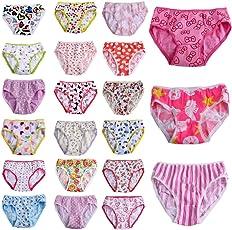 adiasen Mädchen Unterhose Mehrfarbig Multi-Colored