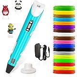 Stylo 3d,Lovebay3d impression pen avec écran LED,compatible avec filament PLA/ABS +18 multicolores,3d professionnel pen…