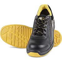 Liberty Warrior Envy Earth Popcorn Insocks Safety Shoes for Men Industrial Steel Toe Light Weight, Black/Yellow - First…