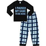 "Pijama largo con texto en inglés ""I Paused My Game to Be Here"""