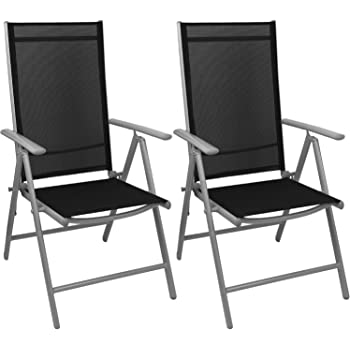 2x alu hochlehner klappstuhl klappsessel gartenstuhl. Black Bedroom Furniture Sets. Home Design Ideas