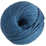 DMC Natura XL Yarn, 100% Cotton, Colour 71 Blue, 12 x 12 x 7 cm